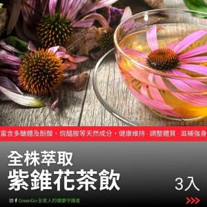 【買1送1】紫錐花茶-天然的伏冒熱飲  沖泡式 花茶